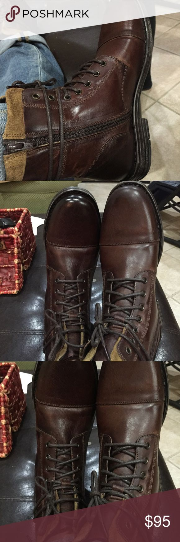 KennethCole reaction leather Boot NWT KennethCole reaction leather Boot NWT fits woman size 9 -9 1/2 especially great for Wide foot. 2 of my girls have wide feet. So I decided to shop in the men's department. I buy their Vans in men's Dept Kenneth Cole Reaction Shoes Boots