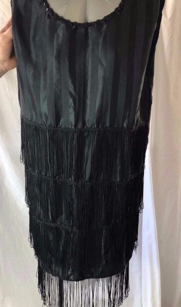 Flapper Dress Womens Adult Halloween  Black Role Play Costume #Handmade #Dress 3.7.18