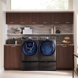 Take the stress out of laundry with this Samsung washer and dryer duo. The Addwash door lets you easily add forgotten laundry once the cycle has already begun. Consider the Black Stainless finish for a sleek look.  RG @loweshomeimprovement