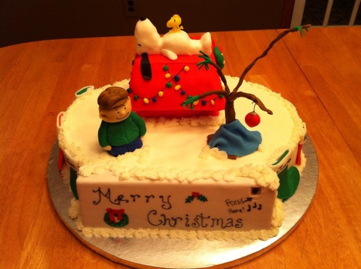 Charlie Brown Christmas Cake - it plays the theme song!