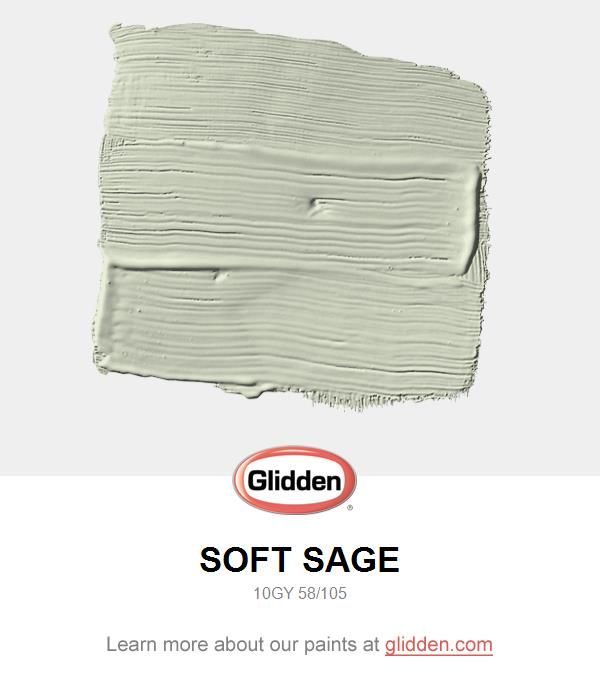 Soft Sage Paint Color Glidden