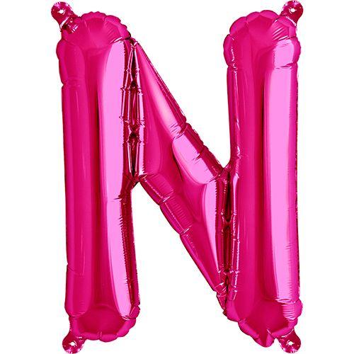 Skriv HAPPY NEW YEAR med de fine 41 cm balloner, pustes KUN op med luft! Flot og billig løsning. Hænges fra loftet, sættes på pinde eller klistres på væggen. Pink Bogstav N Luft Folie Ballon 40 cm. - Single