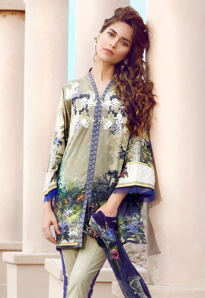 Cross Stitch Dark Wilderness Summer Lawn 2017 Volume 2 Price in Pakistan famous brand online shopping, luxury embroidered suit now in buy online & shipping wide nation..