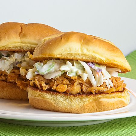 Buffalo Chicken Sliders with Ranch Slaw: Buffalo Chicken Sliders, Fun Recipe, Dinners Side For Chicken, Good Side For Burgers, Ranch Slaw, Buffalo 66, Burgers Side, Sandwiches Recipe, Things Yummy