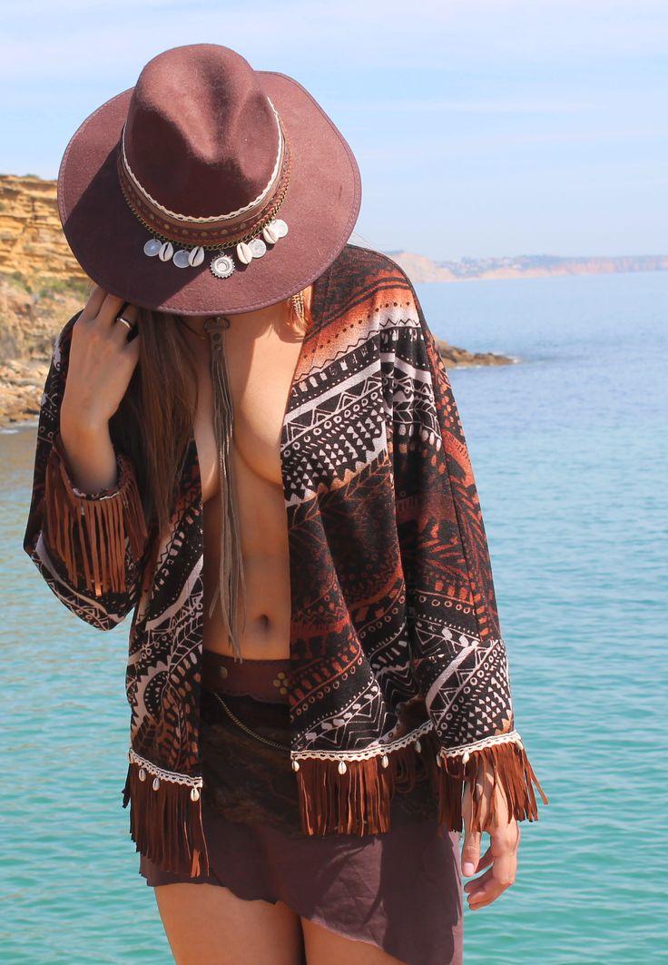 kimono, tribal, ethnic, style, fashion, boho, bohemian, boheme, chic, hippie, free spirits, wild, travel, coachella, festivals, summer, beach, free people, peace, fedora hats, festival hat,