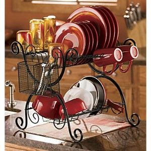 Wrought Iron Dish Drainer Rack | Scroll Double Decker Dish Rack | Review |  Kaboodle