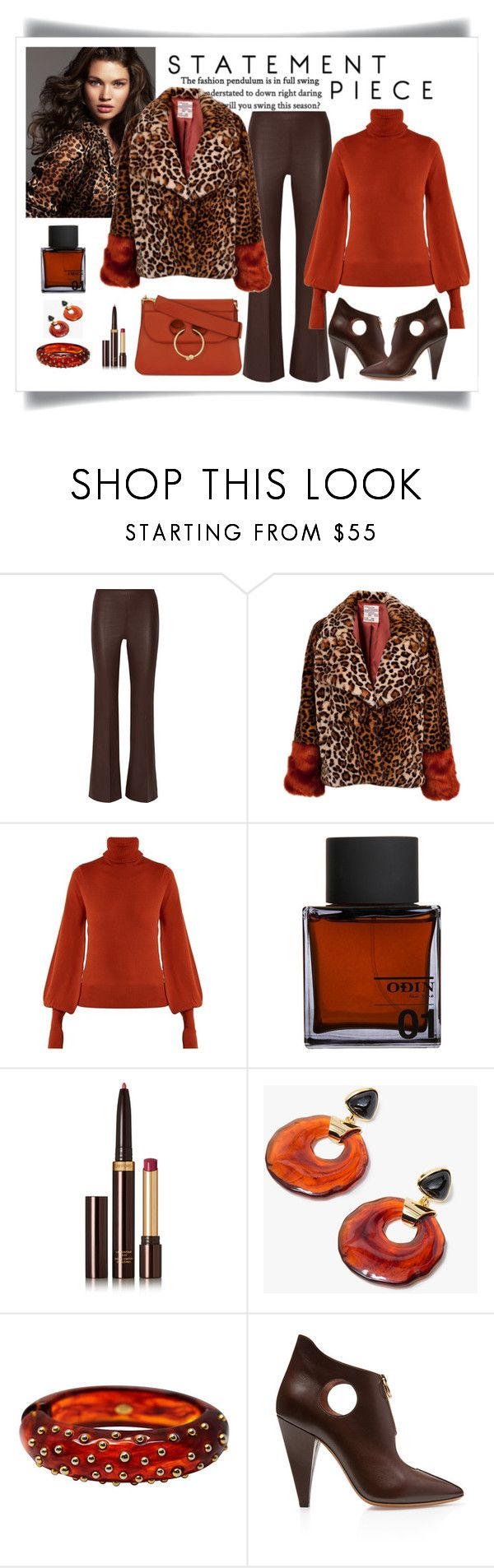 """Bellona Baum Und Pferdgarten Faux Leopard Coat"" by romaboots-1 ❤ liked on Polyvore featuring Tara Lynn, By Malene Birger, Chloé, Odin, Tom Ford, Lizzie Fortunato, Bally and J.W. Anderson"