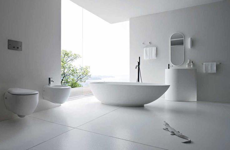 bathroom trends 2016 - minimalistlik valge, puhtad geomeetrilised pinnad