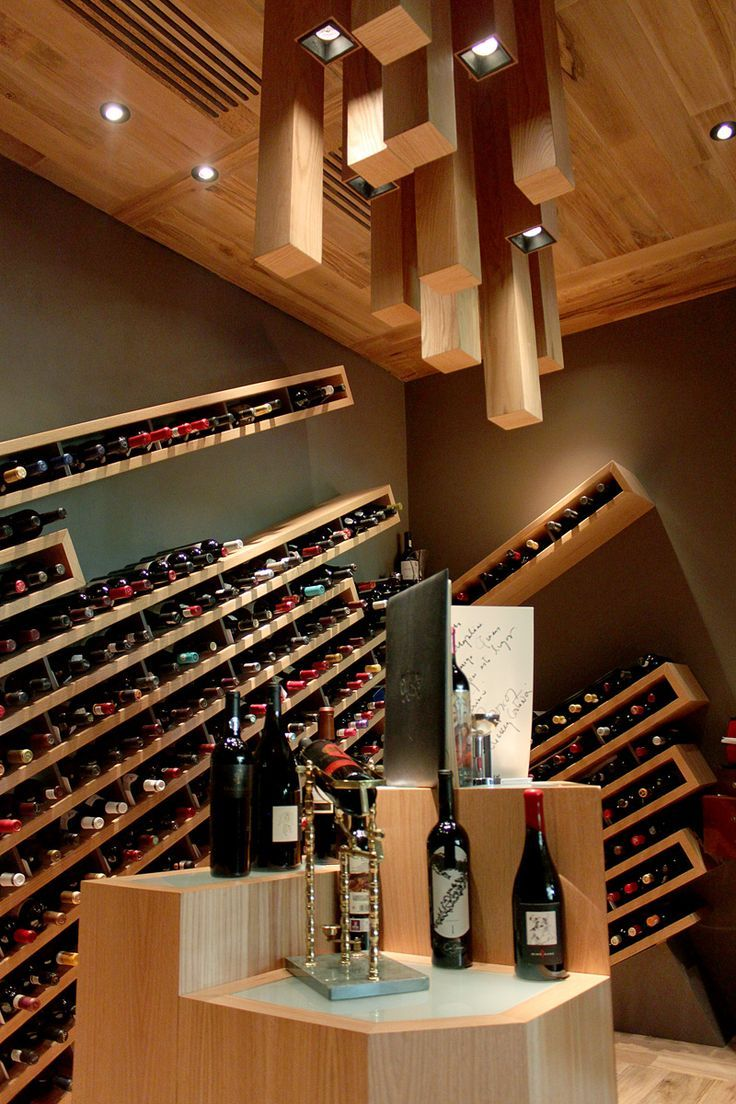 The custom built wine cellar in a restaurant in Mexico.