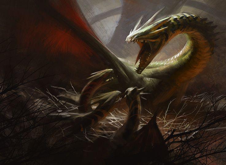 Dragon Broodmother art by Jaime Jones