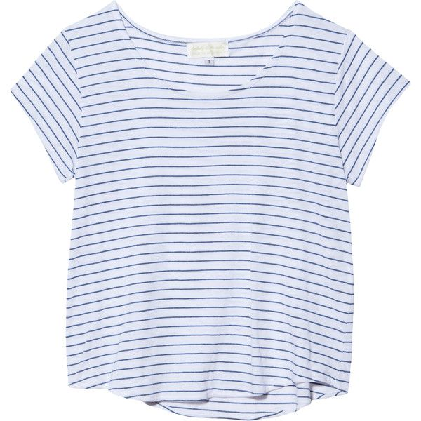 The Lady & The Sailor Crop Short Sleeve Tee found on Polyvore