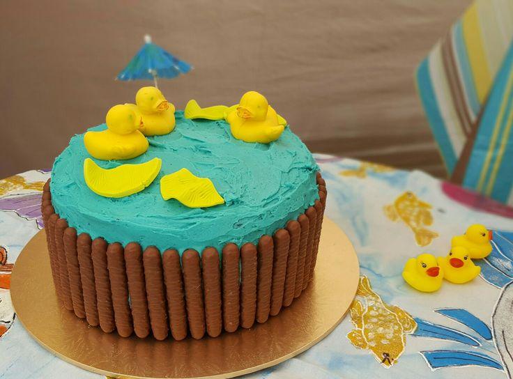 Ducky birthday cake chocolate duckies