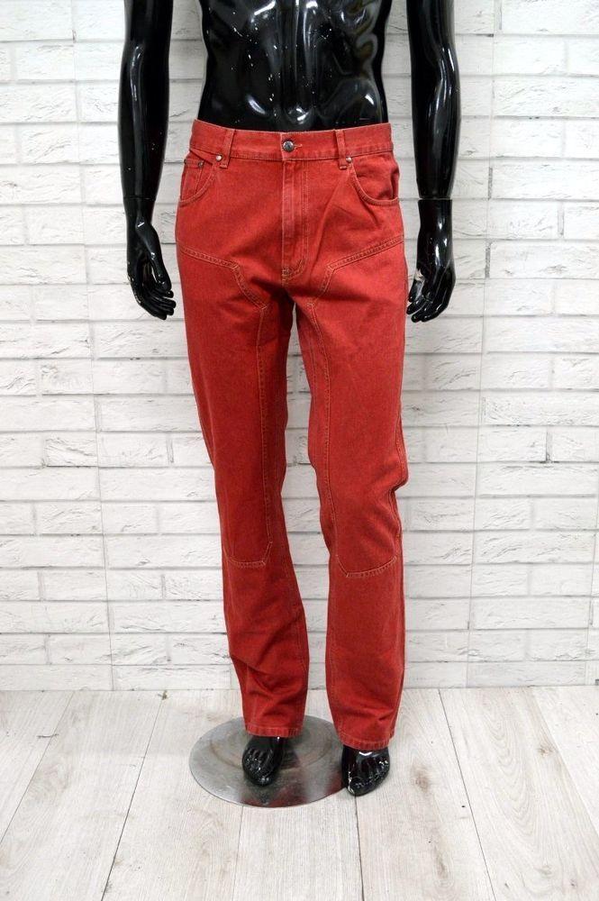 7c8e2c51ab MARINA YACHTING Uomo Man Pantalone Pants Jeans Taglia 34 Rosso ...