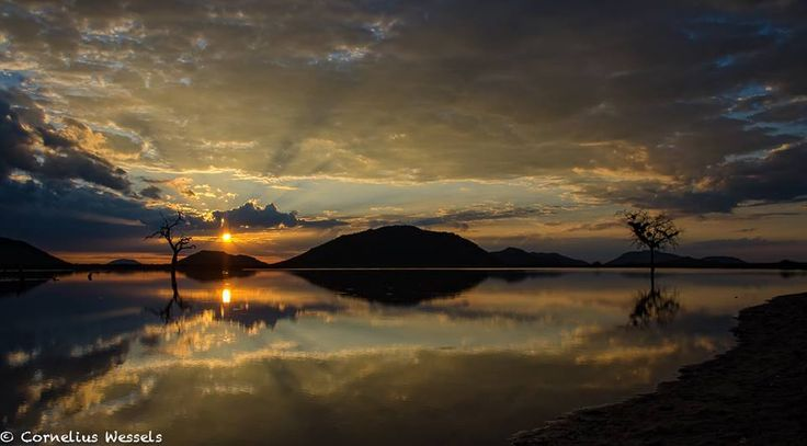 Sunset in Madikwe over Thou dam... Beautiful scenery after the rain. Photo Credit: Cornelius Wessels