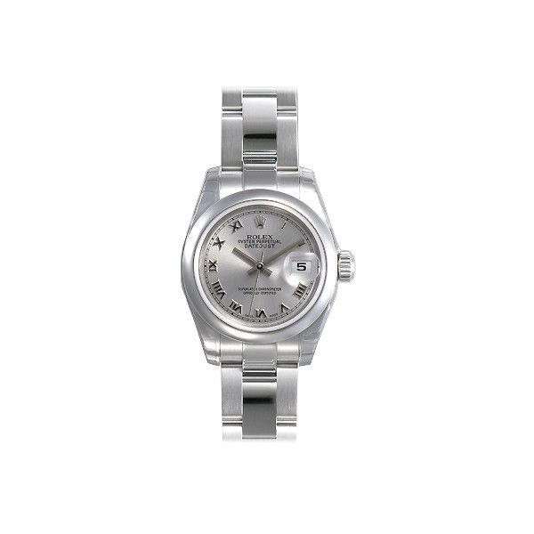 Rolex Lady Datejust 26 Silver Dial Stainless Steel Rolex Oyster... ($5,124) ❤ liked on Polyvore featuring jewelry, watches, stainless steel jewelry, analog watches, stainless steel jewellery, water resistant watches and automatic movement watches