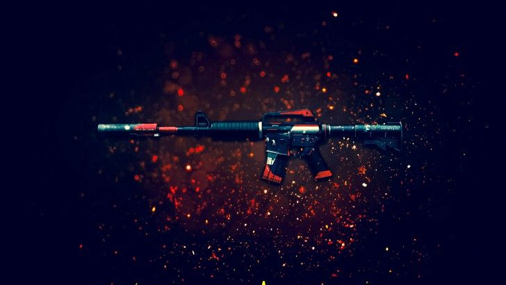 Download M4A1 S Cyrex Rifle Counter Strike Global Offensive Weapon Skin 1920x1200