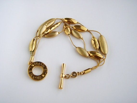 VINTAGE MONET multichain BRACELET by Jewelrin on Etsy, $27.00