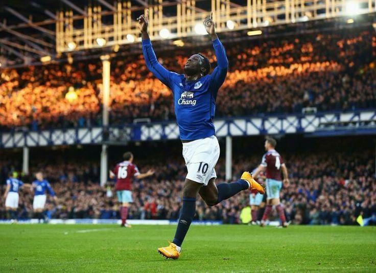 Rom celebrates his goal against West Ham