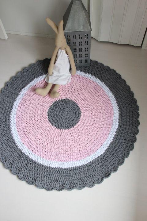 """Virkattu """"Flamingo"""" matto 120cm"""