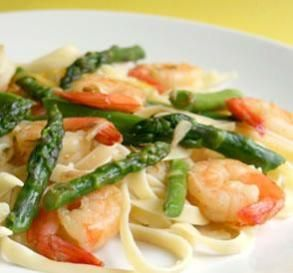 """Garlic Shrimp With Asparagus & Lemon: """"This easy saute uses only one pan and is ready in less than 30 minutes. The results are wonderful — a real taste of spring with the asparagus and lemon!"""" -Cookin-jo"""