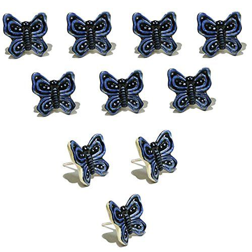 how to make a bathroom cabinet fait 224 la boutons lot de 10 bleu et noir motif 25441