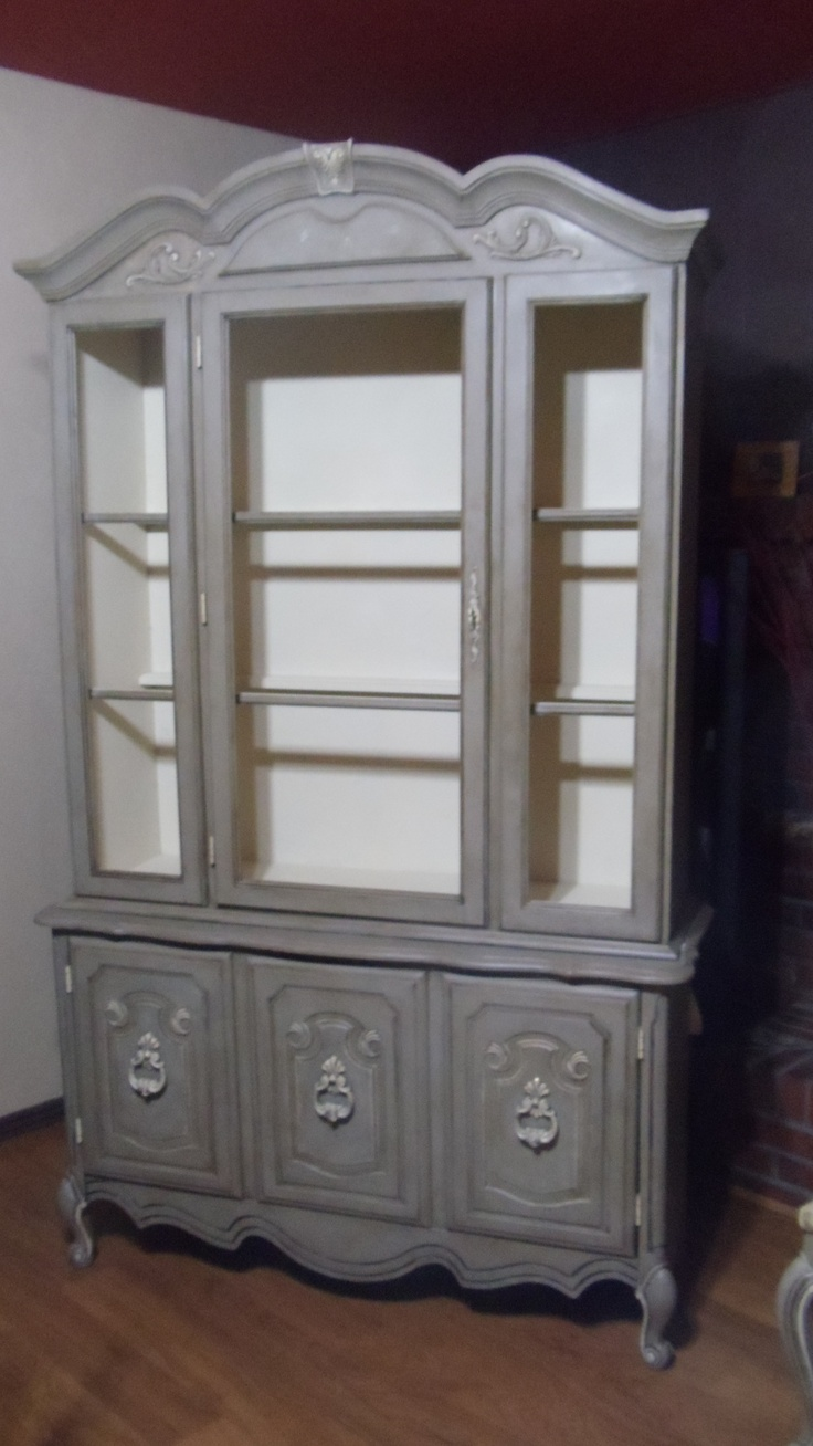 grey china cabinet best 25 china cabinet painted ideas on 16083