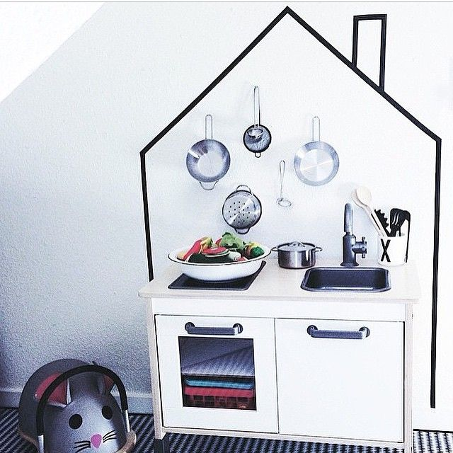 mommo design: 8 LITTLE IKEA HACKS - Ikea Duktig kitchen and washi tape