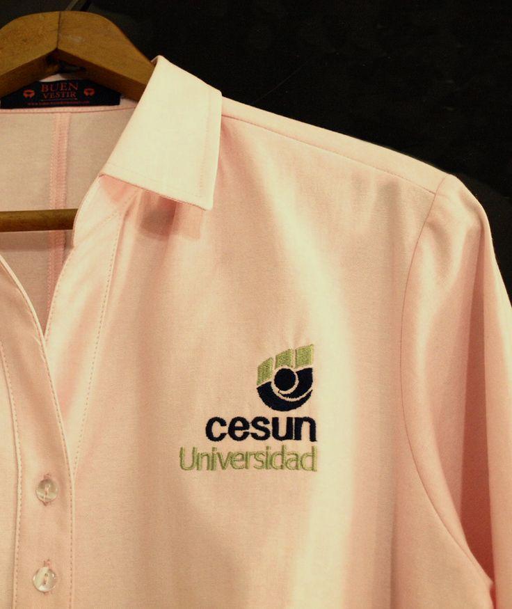 Detalle Logo Bordado. Uniformes EduHub. Medellín - Colombia