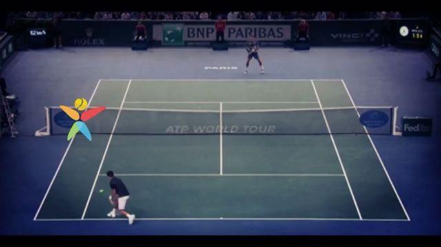 #Djokovic - #Federer rally had it all - lobs, volleys, smashes, drop-shots, tweeners - you name it! 😜👏🙌🎾#etennisleague #etennisleaguenation