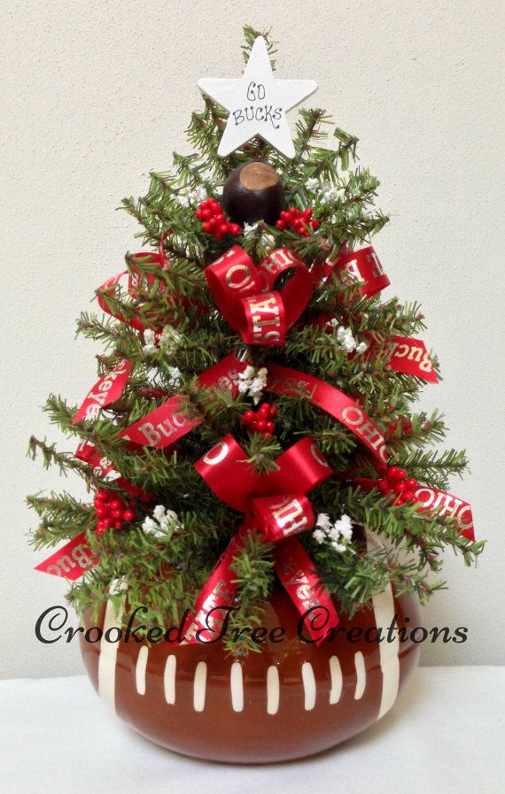 Ohio State OSU Christmas Ohio State Tree by CrookedTreeCreation