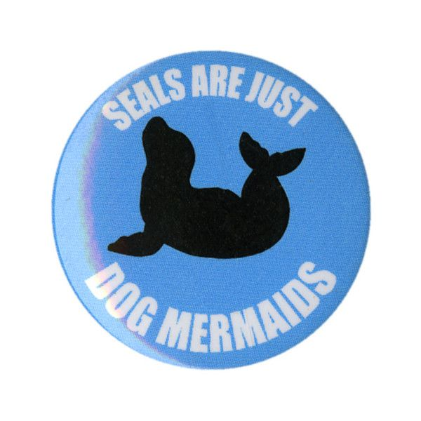 Seals Dog Mermaids Pin | Hot Topic ❤ liked on Polyvore featuring accessories, pins, buttons, extra and other