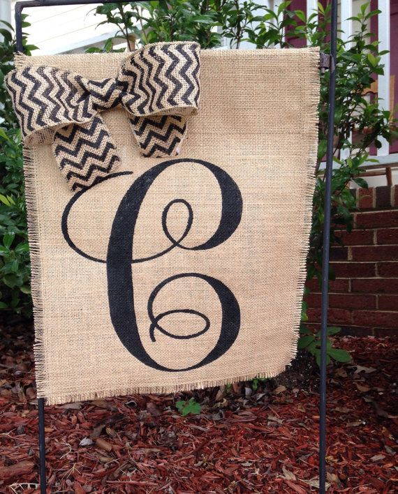 Spring Wedding Day Etsy Gift Guide: Personalized Garden Flag By  ModernButterfly
