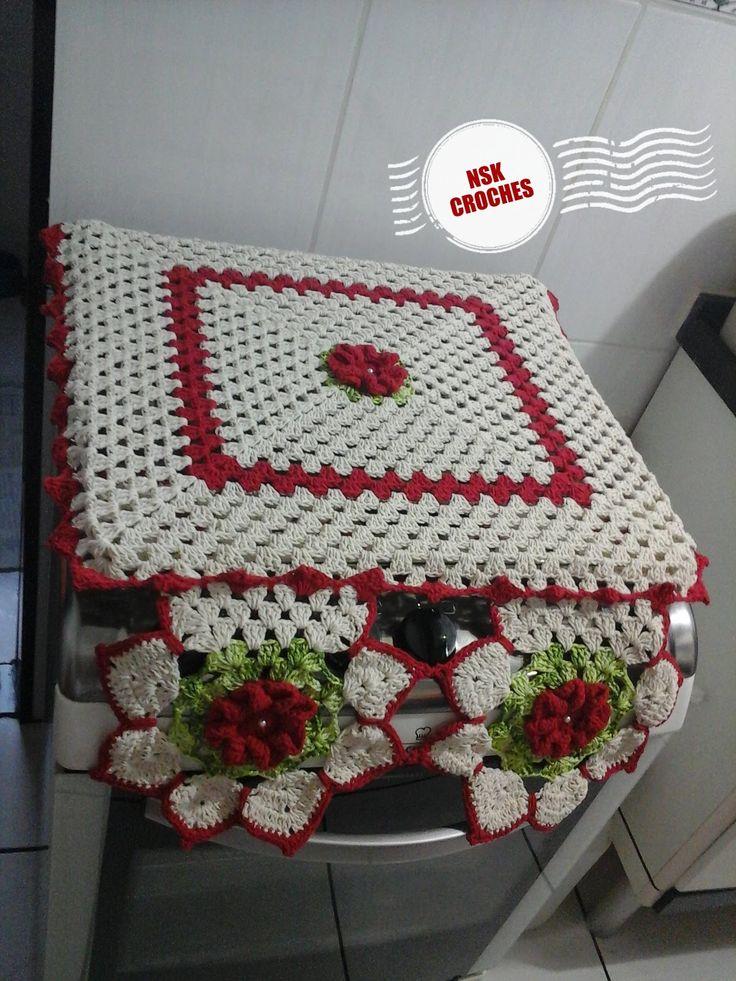 capa de fogão em crochê