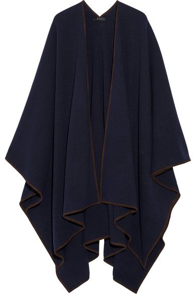 THE ROW Dusana Suede-Trimmed Merino Wool And Cashmere-Blend Cape. #therow #cloth #jackets