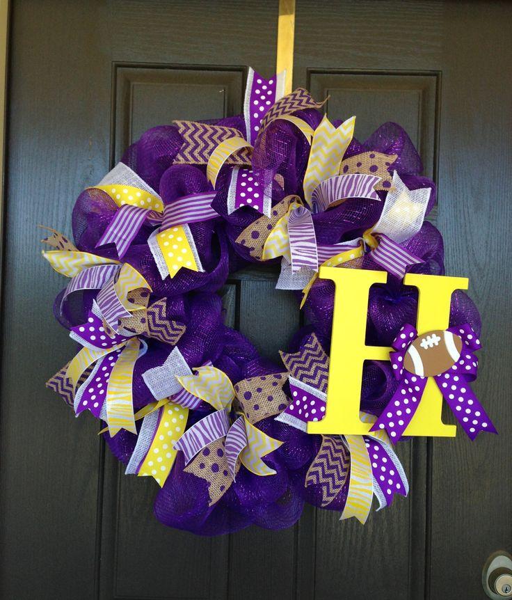 LSU Tigers decomesh wreath football -mjb 2013