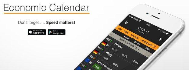 WBP Online's Mobile Economic Calendar App Is Finally Here