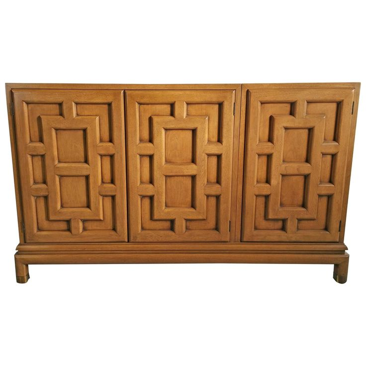 asian modern threedoor cabinet by renzo rutili 1960s