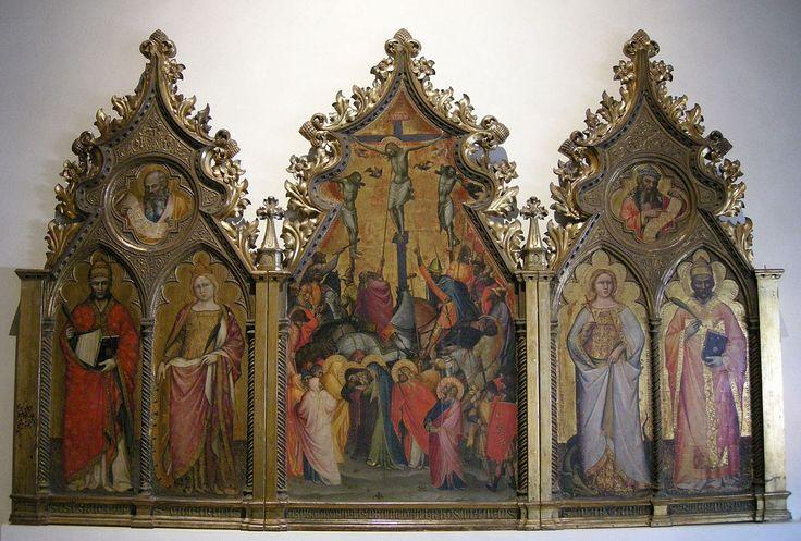 Спинелло Аретино. Триптих «Распятие и святые». 1390-99гг. Музей Вилла Гвиниджи, Лукка.