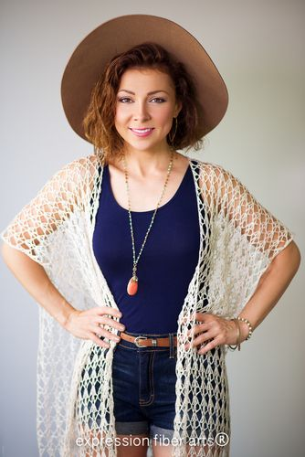 Shimmering Shells Lace Tunic~ #crochet pattern by Expression Fiber Arts. #handmade