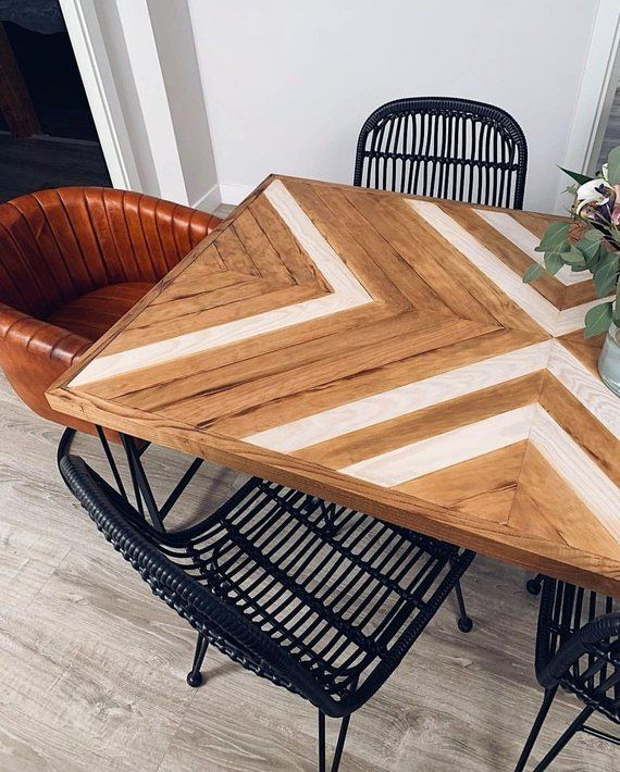 Wooden Table Rustic Wood Table Geometric Wood Table Original Table Rustic Coffee Table Etnic Wood Table Coffee Table Dinning Table Rustic Coffee Table Wood