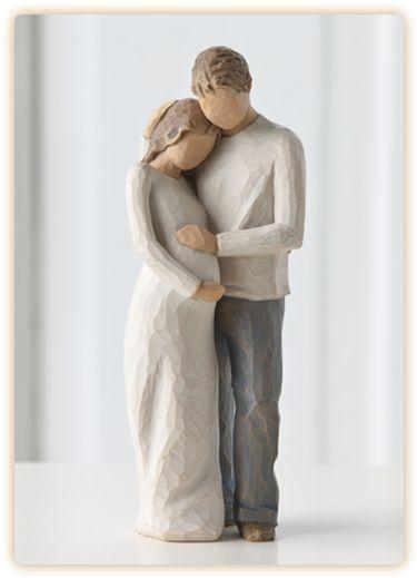 Topo de bolo para noivas grávidas - Willow Tree