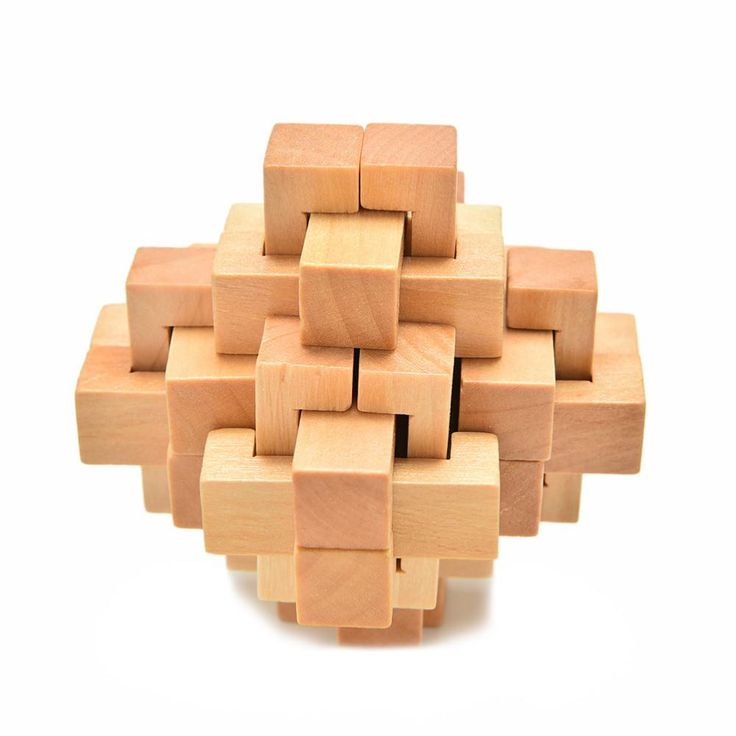 24 Sticks Classical Intellectual Wooden Cube/Educational Toy Set,Wooden Puzzle Set,Brain Teaser,Kong Ming/Luban Lock