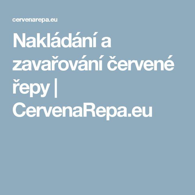 Nakládání a zavařování červené řepy | CervenaRepa.eu