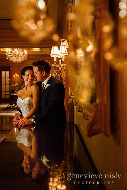 Perfect Sophisticated and Old World Elegance Wedding Reception at the Cleveland Ritz Carlton