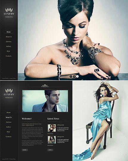 Lyxury Fashion Moto CMS HTML Templates by Angela