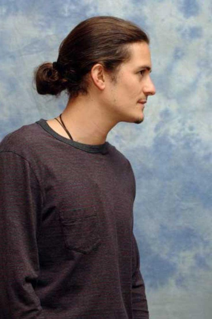 men ponytail with long hair men's
