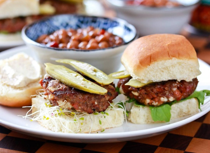 Andouille Blue Cheese Sliders Recipe | Football, Blue cheese and Blue