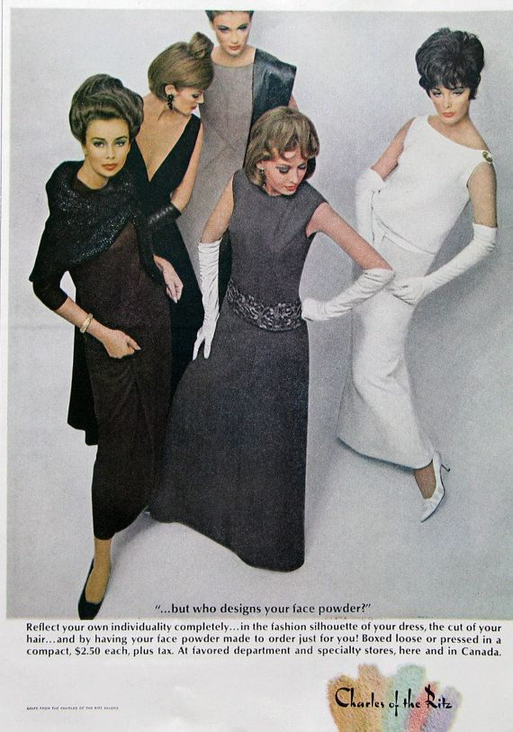 1963 Charles of the Ritz Powder Ad  1960s Women's by RetroReveries