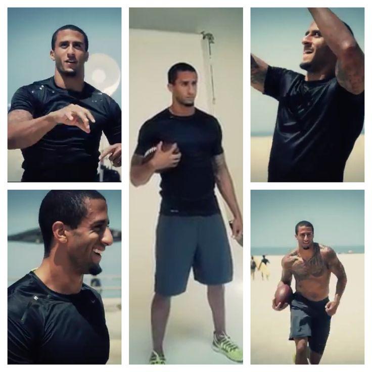 Kap havin' some fun in the sun at his Men's Health cover shoot...❤ #kaepernick #niners