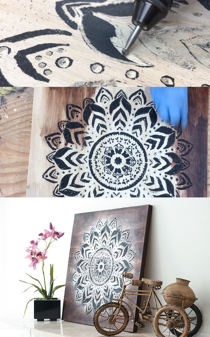 Dremel Wood Carving How To Make A Gorgeous Mandala Wall Art Dremel Wood Carving Wood Carving Tools Dremel Carving